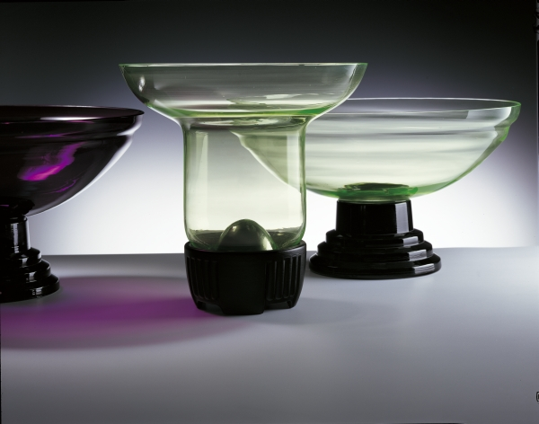 Bloemvazen van vormglas